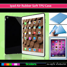 New Apple IPad air 1/2 Silicone/Rubber/Gel 11 Color Soft+TPU Back Case Cover