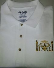 Freemason Masonic symbols Embroidered Polo Shirt Mason Shriner Shirt EMBROIDERY