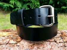 Cristopher Black Leather Belt Handmade 100% Real Leather size up 52
