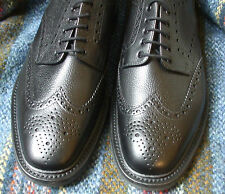 Loake Badminton black grain calf leather Derby brogue width fitting G