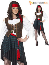 Adult Woman Pirate Lady Costume Caribbean Party Fancy Dress UK 8- 26 Plus Size
