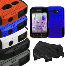 For Kyocera Hydro C5170 APEX Mesh Net Hybrid Skin Case Cover Accessory + Screen