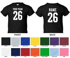 Custom Personalized Your Text, Name, Number STRAIGHT TEXT Sports Infant T-shirt