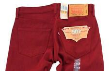 NEW LEVI'S 501 MEN'S ORIGINAL FIT STRAIGHT LEG JEANS BUTTON FLY RED 00501-1581
