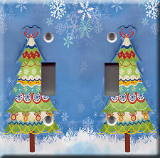 Light Switch Plate Cover - Christmas tree winter snow - Holiday decoration gift