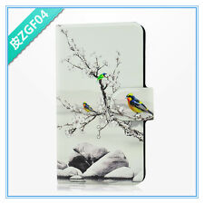 latest hot sale Chinese plum blossom magpies PU leather flip case cover for HTC