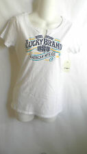 NWT LUCKY BRAND WOMAN'S GRAPHIC T-SHIRT TOP BLOUSE WHITE SIZE S , M , L , XL ,