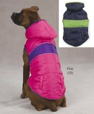 East Side Collection Brite Stripe Dog Parka Coat Jacket - PINK