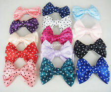 "1 Pair (2pcs) 3.5"" Big Hair Satin Bow Hair Clips Girl's Hairpin"