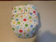 Adult Baby Diaper, Polka Dots, Fully Functional AIO, Extra Padding