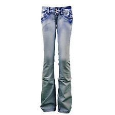 NEW WOMENS LADIES SLIM TIGHT FIT FLARE FLARED BOOT CUT JEANS TROUSERS SIZE 8-14