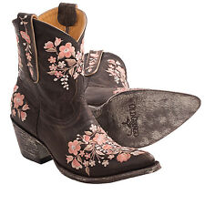 """New in Box Women's Old Gringo Sora 8"""" Cowboy Boots Chocolate/Pink Flowers"""