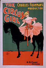 Photo Print Poster Vintage Stage Drama Theatre Show The Circus Girl Charles Froh