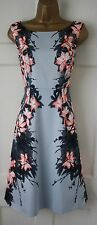 M&S Per Una Grey Peach Black Floral Shift Dress Sz8-24 Marks & Spencer RRP £79!