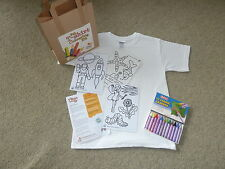 Kids Party bag. T-shirt Colouring Kit. Craft kit for 3-11 yr olds