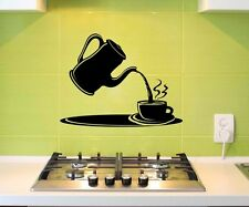 Wall Tattoo Coffee Jug Cup Kitchen Decoration Sticker Mural Sticker 5q623
