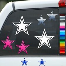 Cowboys Star Vinyl Car Window Stickers iPhone Helmet iPod Decal Pink Blue Silver