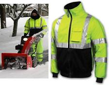 High Vis Class 3 Lime Safety Bomber Jacket With Lining