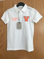 ZARA KIDS BOYS WHITE POLO SHIRT CASUAL COTTON TOP AGE 6-7 YEARS,  7-8 YRS