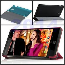 "Ultra Slim Folio Leather Case Cover  For 6"" HP Slate 6 Voice Tab + Screen Film"