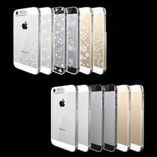 New DJ Sense Flash Light LED Clear Crystal Hard Case Cover For Apple iPhone 5 5S