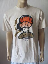 New LRG Mens Beige S/S Crew Graphic Printed Children Of Vision Tee Shirt Top $28