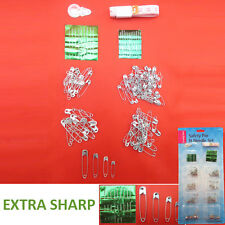 SAFETY PIN & NEEDLE SET- Thread Buttons Scissors Spool Kit Sewing Measuring Tape