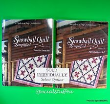 A Quilt in a Day SNOWBALL QUILT SIMPLIFIED Quilting Sewing Pattern Winter Star