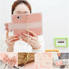 For Samsung Galaxy S3 S4 S5 Bow Lace Bling Bling Diamond Case Cover Pearl Strap