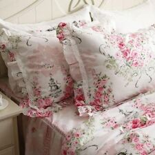 One Piece Shabby and Elegant New Pink Cotton Roses Matching Pillowcase 1107