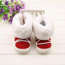 Baby boots girl red snow winter noble Soft bottom Shoes size 3-6 6-9 9-12 Month