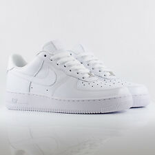 Nike Air Force 1 Low White/White Leather Trainers - 315122 111