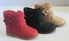 Girl Boots w/ Sock Trim TODDLER Dress Boots (canna2) Black Red Taupe RUNS BIG