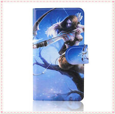 Hot beauty Long hair sexy Bow and arrow goddess PU leather flip case for Lenovo
