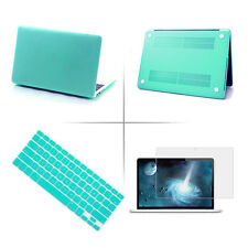 "Teal Hard Rubberized Cover Case Shell for Macbook Air/Pro/Retina 11""13""15""Laptop"