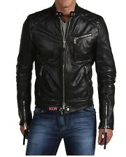 New Dashing Look Soft Quilted Lambskin Leather Biker Jacket For MEN EHS M- 76