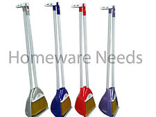 New Long Handle Handled Pyramid Garden Dustpan Dust Pan And & Brush Set Sweeper