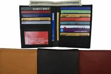 Men's Genuine Leather Bifold Wallet Slim Hipster Cowhide Credit Card New