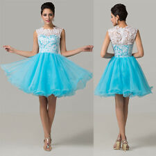 10% Discount Short Lace Tulle Formal Evening Party Bridesmaid Homecoming Dresses
