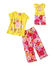 Girl 4-16 and Doll Matching Happy Pajama Clothes fit American Girls Dollie & Me