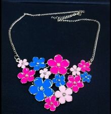 2014 The Spring New Texture Only Beautiful Fresh Enamel Flower Necklace 3Color