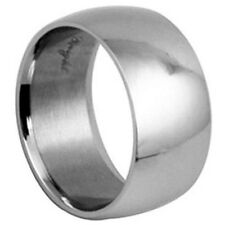 Stainless Steel Classic Wide Wedding Engagement Promise Love Band Ring Size 5-14