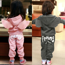 Lovely Cute 2 Pieces Baby Girls Boys Kids Children Angel Wings Outfits Fashion
