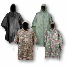 Waterproof Army Hooded Ripstop Festival Rain Poncho Camping Hiking Military