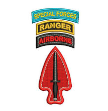 Army Special Operations Command USASOC SF Ranger Airborne tab Embroidered Shirt