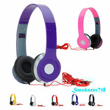 3.5mm On-Ear Adjustable Foldable DJ Style Headphones for Girls Boys Childs Kids