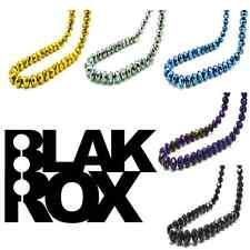 BLAKROX BLACK JEWELS Mens Diamond Cut Black Shamballa Necklace NEW Colours GOLD