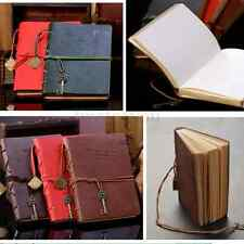 Retro Leather Notebook Journal Diary Vintage Notepad String Key Sketchbook Memo