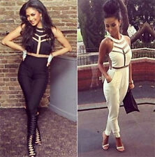 New Sexy Womens Ladies gauze Outfits Bodycon Jumpsuit&Romper Trousers Clubwear