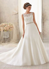 In stock New Style White Wedding Dress Bridal Gown Size:6/8/10/12/14/16+